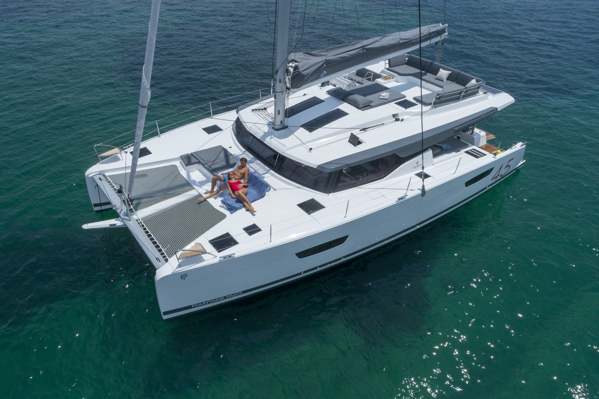 08/07/2019, Lagos (Portugal), Chantier Fountaine-Pajot, Fountaine-Pajot 45